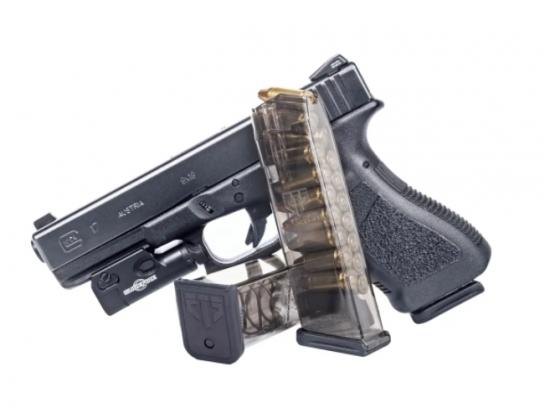 Магазин прозрачный ETS для пистолета GLOCK 17 на 17 патронов 9 мм, 9x19 Luger