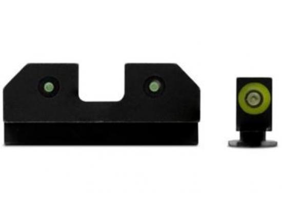 Люминисцентная мушка и целик для GlockSight Systems R3D Night Sights, Tritium Orange
