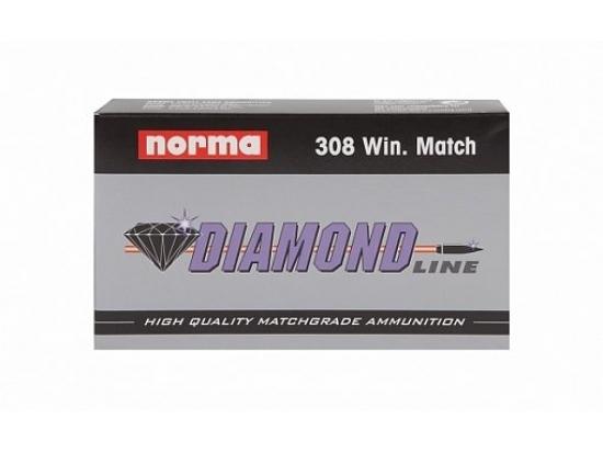 Патроны Norma Diamond Line Match .308 Winchester 10.9g/168gr