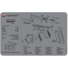 Коврик для ремонта TekMat Glock® Gen4 Grey (TEK-17-GLOCK-G4-GY)