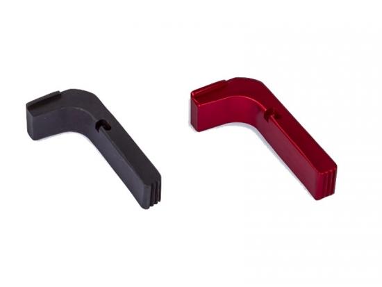 Кнопка сброса магазина пистолетов GlockStore Aluminum Ext Mag Release Red 9mm/.40/.357 (1100-RED-A10-GEN3/1100-BLK-A10-GEN3)