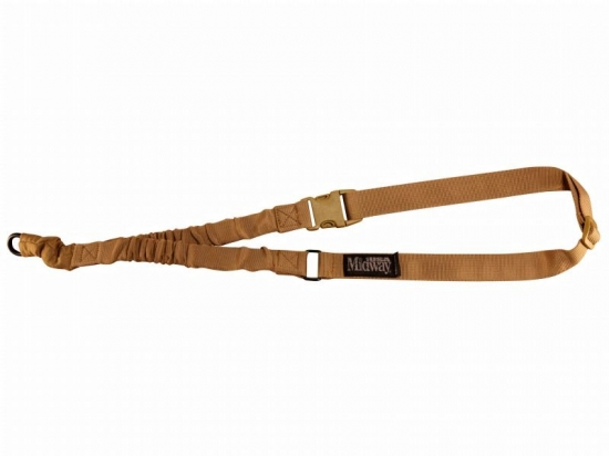 Ремень тактический оружейный MidwayUSA Tactical Rifle Sling Single Point Nylon Bungee Coyote (376886)