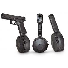 Магазин Glock (G17, G34, G19, G26) универсальный на 50 патрона (бубен) 9x19 Корея (GL-T1244)