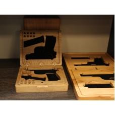 Футляр подарочный деревянный под пистолет Тульский Токарева ТТ