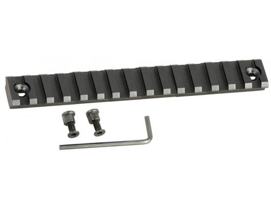 Планка рельса Вивер/Пикатинни Picatinny 13 слотов KeyMod для карабинов NEA-15, 25 (13,4 мм)