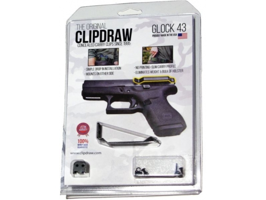 Зажим для ремня Clipdraw для Glock 43 (G43-В)