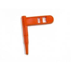 Флажок безопасности оружейный оранжевый ERGO-Rifle Safety Chamber Flag Orange (3 шт. к-т) (4984)