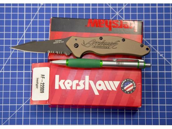 Нож складной Ambush Firearms Kershaw AF-22009 Model 13-113-09117-006 (Песочный / Тан / Tan)