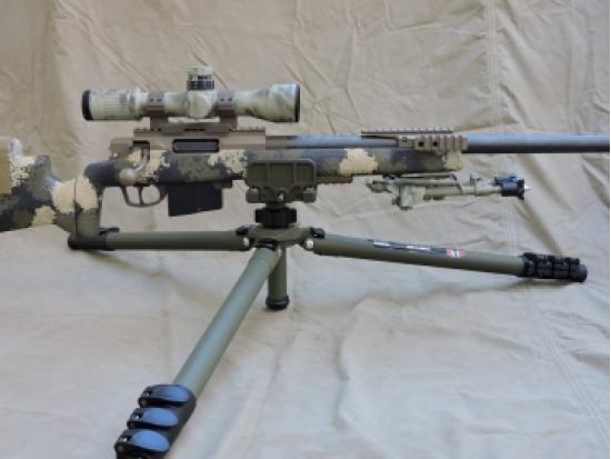 Штатив (трипод, тренога) для стрельбы, углеродистое волокно (карбон) MISSION CRITICAL DESIGNS P.R.S.T. CARBON FIBER SHOOTER TRIPOD со штативной головкой Ball Head OD